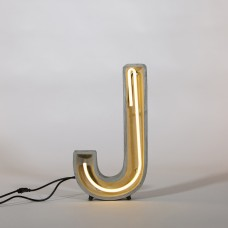 NEON LAMP IN CEMENT 'ALPHACRETE' h. Cm. 40 - J