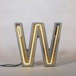 NEON LAMP IN CEMENT 'ALPHACRETE' h. Cm. 40 - W