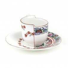 'HYBRID-TAMARA' COFFE' CUP WITH SAUCER IN PORCELAIN