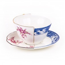 'HYBRID-ZENOBIA' TEACUP WITH SAUCER IN PORCELAIN