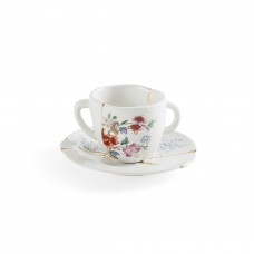 'KINTSUGIN-n'1' COFFÈ CUP WITH SAUCER IN PORCELAIN