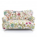 TWO SEATER SOFA 'BOTANICAL DIVA' Cm.160x90 h.84 - WHITE