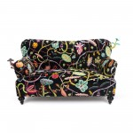 TWO SEATER SOFA 'BOTANICAL DIVA'  Cm. 160x90 h.84 -BLACK