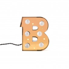 'CARACTÈRE LAMP' METAL LETTER WITH LED BULB Cm.17,2 h.21 - B