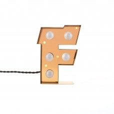 'CARACTÈRE LAMP' METAL LETTER WITH LED BULB Cm.15,6 h.20,9 - F