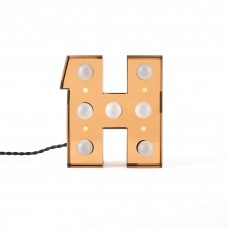 'CARACTÈRE LAMP' METAL LETTER WITH LED BULB Cm.18,3 h.20 - H