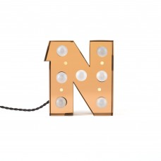 'CARACTÈRE LAMP' METAL LETTER WITH LED BULB Cm.18,3 h.20 - N