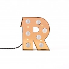 'CARACTÈRE LAMP' METAL LETTER WITH LED BULB Cm.17,9 h.20,1 - R