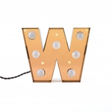 'CARACTÈRE LAMP' METAL LETTER WITH LED BULB Cm.25,1 h.20 - W