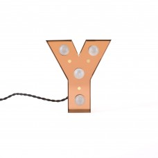 'CARACTÈRE LAMP' METAL LETTER WITH LED BULB Cm.18 h.20 - Y