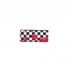 'TOILETPAPER' PRINTED PU PENCIL CASE Cm. 21x9 - ROSES ON CHECK