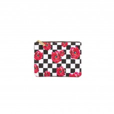 'TOILETPAPER' PRINTED PU CASE Cm. 21x15,5 - ROSES ON CHECK