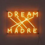 LED SIGN WITH TRANSFORMER 'DREAM-MADRE' Cm.52x38