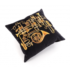 POLYESTER CUSHION WITH PLUME PADDING 'TOILETPAPER' Cm.50x50 - TRUMPETS