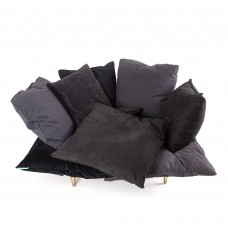 ARMCHAIR 'COMFY' Cm.131 h.96 - CHARCOAL GREY