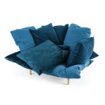 ARMCHAIR 'COMFY' Cm.131 h.96 - TURQUOISE