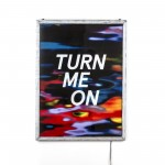 POSTER FOR PET WITH FRAME 'FRAME IT!' Cm.80x60-'TURN ME ON' Cm.57,5x77,5