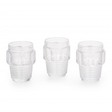 SET OF 3 SMALL GLASSES 'MACHINE COLLECTION' ø Cm.8,2 h.10,5