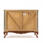 'EXPORT COMÒ' WOODEN CABINET 2 DOORS WITH BASE Cm.120x55 h.95