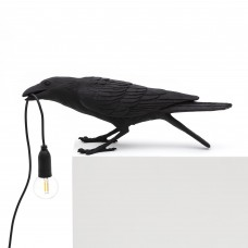 BIRD LAMP #2-BLACK' RESIN LAMP FOR USA & UK ONLY Cm.33,5x11,5 h.10,5 - PLAYING