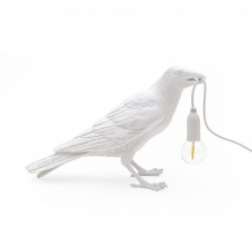 BIRD LAMP #1-WHITE' RESIN LAMP FOR USA & UK ONLY Cm.29,5x12 h.18,5-WAITING