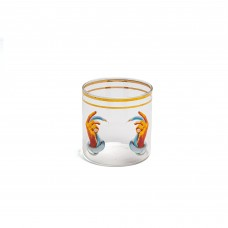 GLASS 'TOILETPAPER LOVES SELETTI' ø Cm.8 h.8,5 - HANDS WITH SNAKES