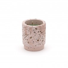 CANDLE IN CEMENT JAR 'DIESEL GREEN POSSESSED TROPICALIA' - PINK