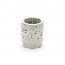 CANDLE IN CEMENT JAR 'DIESEL GREEN POSSESSED DESERT'  - WHITE