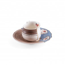 COFFEE CUP WITH SAUCER IN PORCELAIN 'HYBRID-DJENNE'