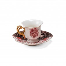 COFFEE CUP WITH SAUCER IN PORCELAIN 'HYBRID-SAGALA'