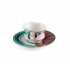 COFFEE CUP WITH SAUCER IN PORCELAIN 'HYBRID-CHUCUITO'