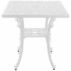 ALUMINIUM SQUARE TABLE 'INDUSTRY COLLECTION' Cm.70x70 h.71 - WHITE