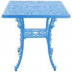 ALUMINIUM SQUARE TABLE 'INDUSTRY COLLECTION' Cm.70x70 h.71 - BLUE