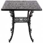 ALUMINIUM SQUARE TABLE 'INDUSTRY COLLECTION' Cm.70x70 h.71 - BLACK