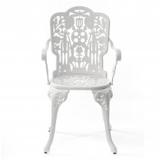 ARMCHAIR ALUMINIUM 'INDUSTRY COLLECTION' Cm.52x55 h.45/94-WHITE