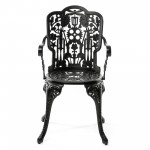 ARMCHAIR ALUMINIUM 'INDUSTRY COLLECTION' Cm.52x55 h.45/94-BLACK