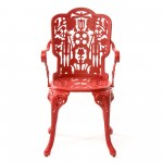 ARMCHAIR ALUMINIUM 'INDUSTRY COLLECTION' Cm.52x55 h.45/94-RED