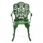 ARMCHAIR ALUMINIUM 'INDUSTRY COLLECTION' Cm.52x55 h.45/94-GREEN