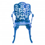 ARMCHAIR ALUMINIUM 'INDUSTRY COLLECTION' Cm.52x55 h.45/94-SKY BLUE