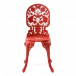 ALUMINIUM CHAIR 'INDUSTRY COLLECTION' Cm.40x40 h.45/92 RED