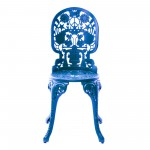 ALUMINIUM CHAIR 'INDUSTRY COLLECTION' Cm.40x40 h.45/92 - SKY BLUE