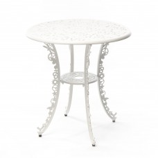 ALUMINIUM TABLE 'INDUSTRY COLLECTION' ø Cm.70 h.74 - WHITE