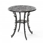 ALUMINIUM TABLE 'INDUSTRY COLLECTION' ø Cm.70 h.74 - BLACK