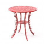 ALUMINIUM TABLE 'INDUSTRY COLLECTION' ø Cm.70 h.74 - RED