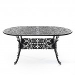 ALUMINIUM OVAL TABLE 'INDUSTRY COLLECTION' ø Cm.70 h.74 - BLACK