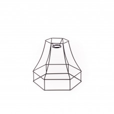 'PARALUME-2' METAL LAMPSHADES WITH HOOK ø Cm.20 h.17,5 - BLACK