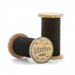 'PHILO' WIRE IN ROLL Mt.5 COATED COTTON - BLACK