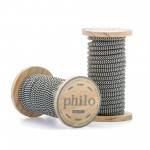 'PHILO' WIRE IN ROLL Mt.5 COATED COTTON - BLACK/WHITE
