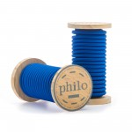 'PHILO' WIRE IN ROLL Mt.5 COATED COTTON - BLUE