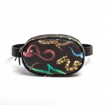 "WAIST BAG IN PU ""TOILETPAPER""Cm 19x12.5x4,5-WITH BELT Cm 3x114-SNAKES"